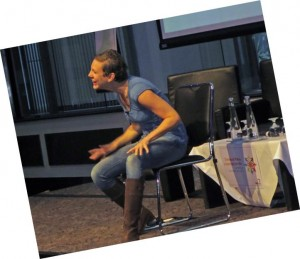 Francesca Martinez urged delegates at the cerebral palsy conference to be amazing!