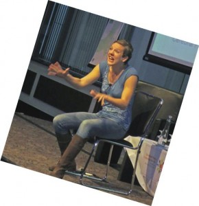 Francesca Martinez brought the cerebral palsy conference to a close