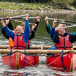 Canoeists with brain injuries undertaking residential rehabilitation at the Lake District