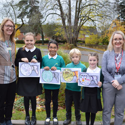 Road Safety Week 2019 winners from Stoke Hill Junior School in Exeter