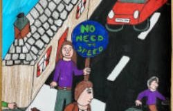 An award winning poster from Road Safety Week 2020