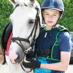 The writer's son with his horse illustrating the bond between horse and owner despite a horse riding accident